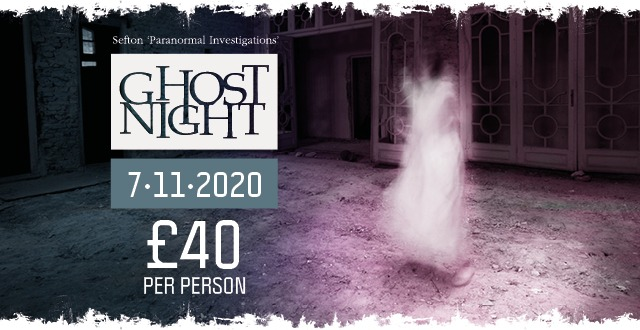 Ghost Night  – Saturday 7th  November 2020